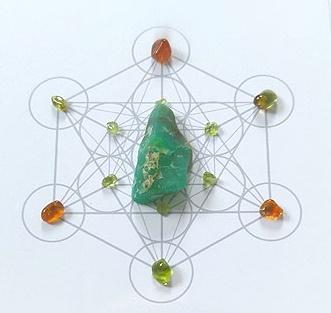 Wealth & Prosperity Crystal Grid [Metatron's Cube]
